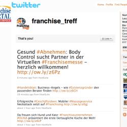 @franchise_treff: Echtzeit-News der #Franchise-Branche bei #Twitter!