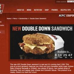KFC Double Down Sandwich – das Sandwich ohne Brötchen