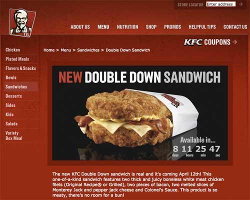 Kfc Double Down Sandwich Das Sandwich Ohne Brötchen Franchise Treff