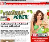 """Franchisesystem Subway bringt mit Bild.de das """"Volks-Sandwich"""" raus"""