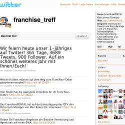 Der Franchise-Treff twittert seit 1 Jahr