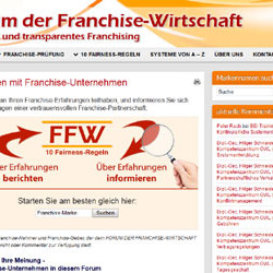 FFW – Neue Website will faires Franchising fördern