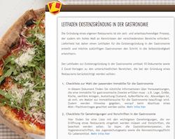 Leitfaden und Checklisten zur Existenzgründung in der Gastronomie